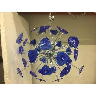 Contemporary Blue Murano Glass Sputnik Chandelier Preview