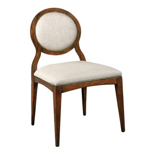 Modern Ventura Oval Side Chair For Sale