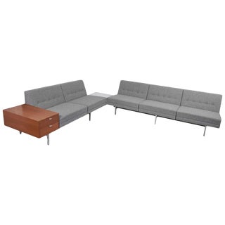 Two Modular Sofas With Table and Drawers by George Nelson for Herman Miller, Us For Sale