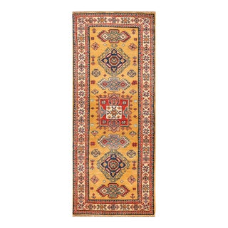 "Apadana - Transitional Orange and Red Indian Tabriz-Style Runner, 2'3"" x 5'9"""