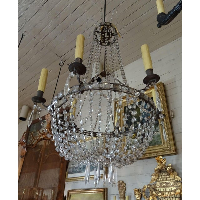 18th Century Empire Crystal Chandelier For Sale - Image 13 of 13