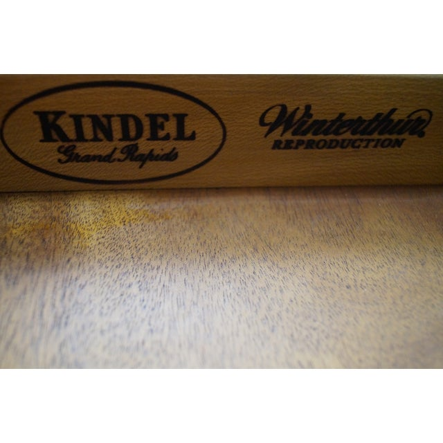 Kindel Winterthur Collection Mahogany Inlaid Hepplewhite Style Occasional Table (A) For Sale - Image 9 of 11