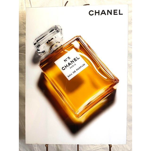 Bronze Original Chanel Advertising Perfume Store Display Sign Plexi Glass Arcylic For Sale - Image 8 of 8