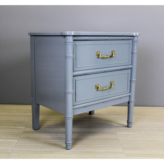 Vintage Palm Beach Style Nightstands - A Pair - Image 5 of 11