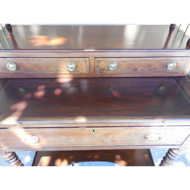 Antique English Mahogany Desk - Image 3 of 7