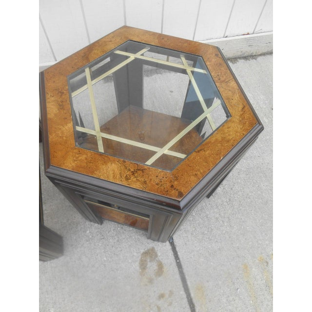 Mid-Century Modern Milo Baughman Style Coffee/ End Table Set - 2 Pc. For Sale - Image 10 of 11
