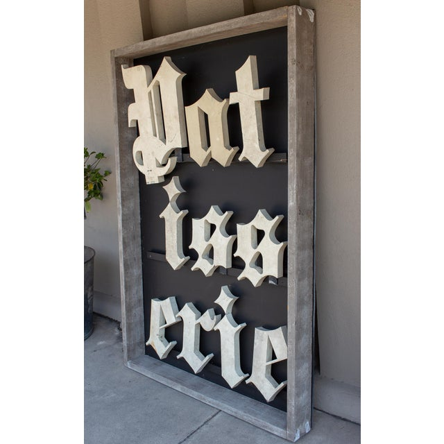 Truly a beautiful discovery during our recent travels, this is an antique panel of Patisserie large scale shop letters...