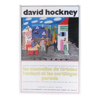 """1980s David Hockney """"Les Mamelles De Tiresias l'Enfant Et Les Sortileges Parade"""" Poster For Sale"""