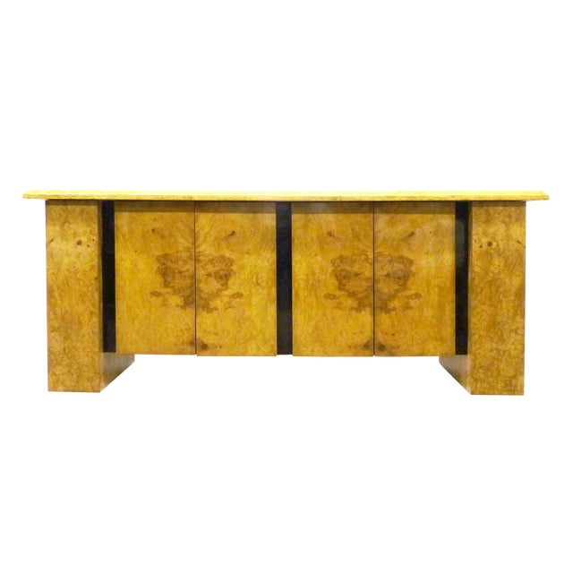 Milo Baughman Burled Wood Bar Cabinet - Image 1 of 7