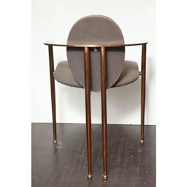 1970s Set of Four Rose Gold-Plated Metal Chairs, 1970s For Sale - Image 5 of 8