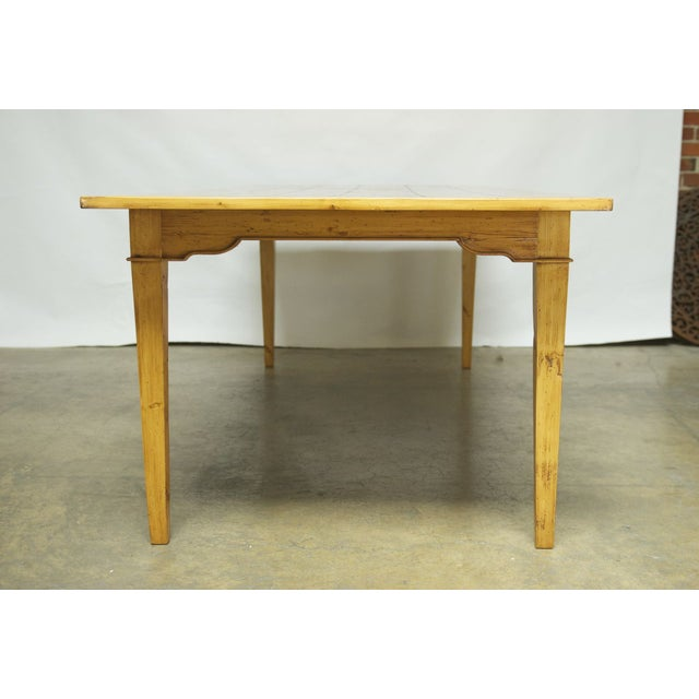 Italian Pine Farm Dining Table - Image 3 of 11