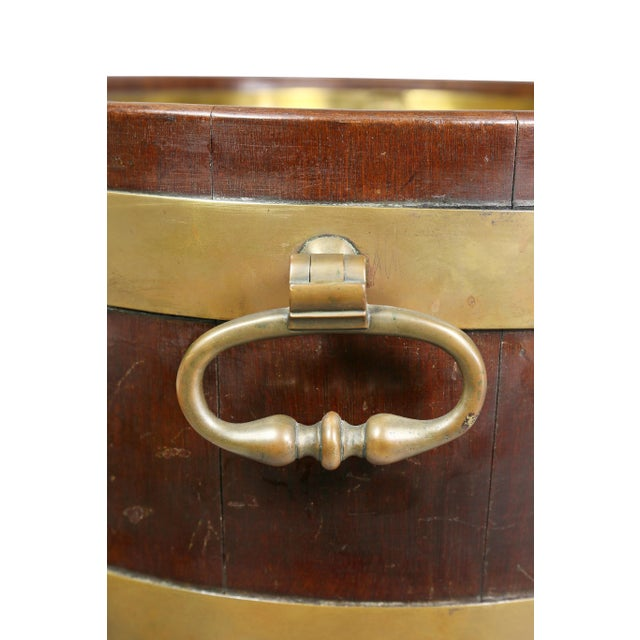 Gold George III Mahogany and Brass Mounted Wine Cooler For Sale - Image 8 of 11
