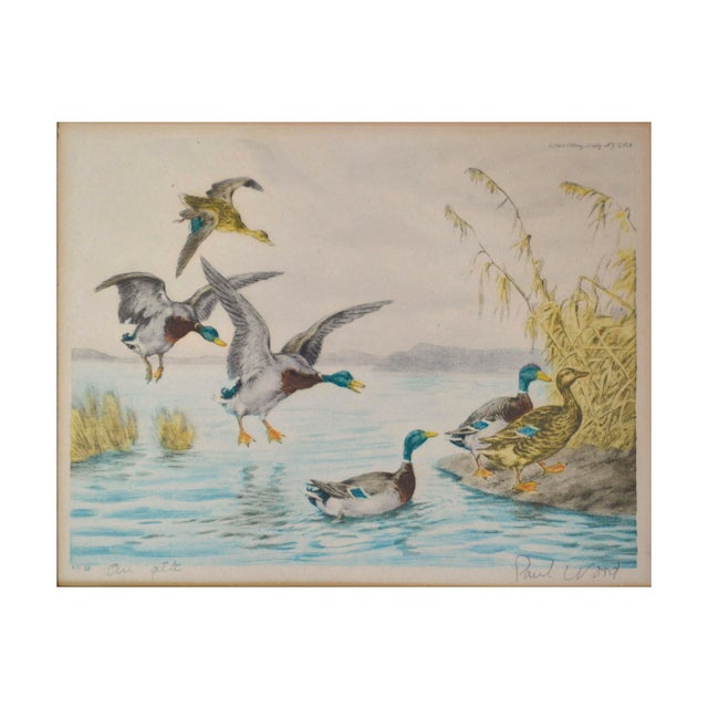 Original color aquatint/ etchings published by the Paris Etching Society in New York around 1935 by Paul Wood (1897-1964)....