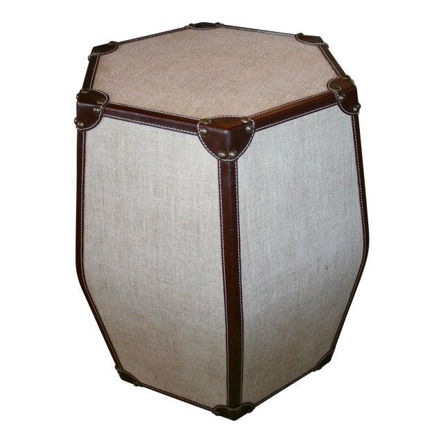 Hexagonal Leather Stool - Image 1 of 3