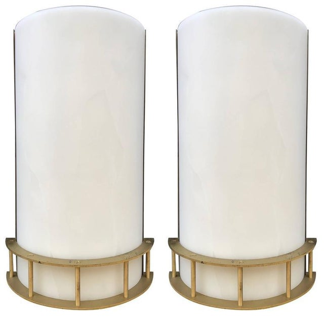 White Pair Large Italian Bronze Sconces For Sale - Image 8 of 8