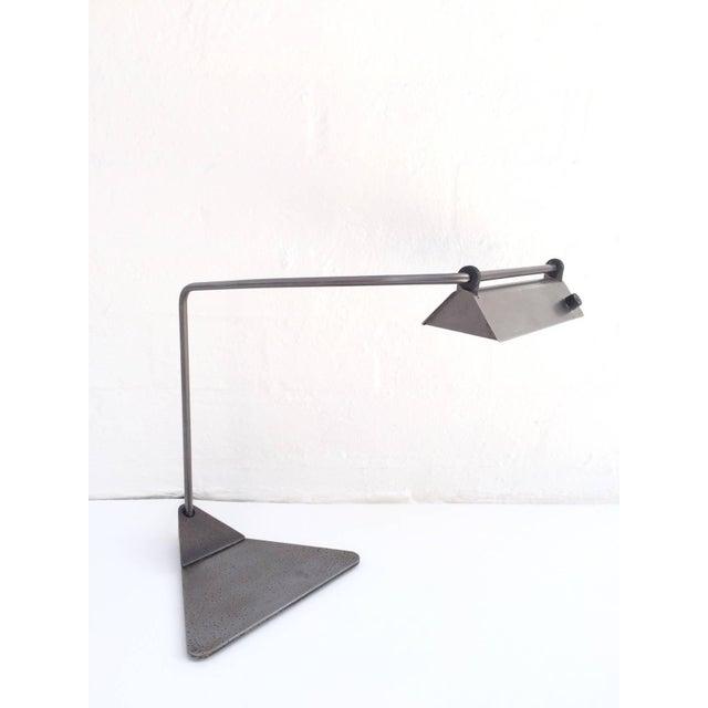 Ron Rezek Ron Rezek Raw Steel Desk Lamp For Sale - Image 4 of 10