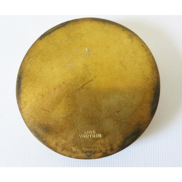 Metal French Sculptured Gilt Bronze Box by Line Vautrin For Sale - Image 7 of 9