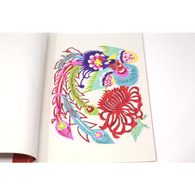 Paper Vintage Colorful Hand Sewn Book With Individual Chinese Paper Cutting Art - Set of 8 For Sale - Image 7 of 11