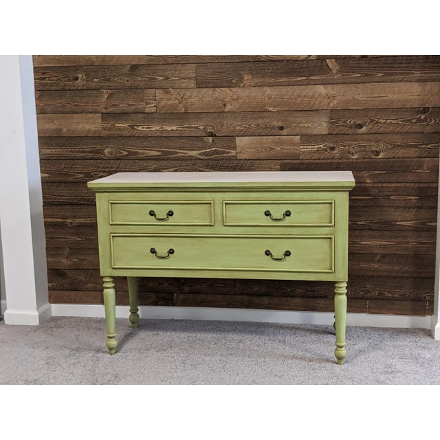 1950s Mid Century Green Chest With Drawers For Sale - Image 13 of 13