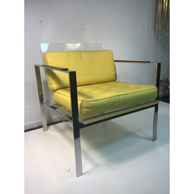 Rare Pair of Modernist Lucite And Nickeled Bronze Chairs by Laverne For Sale - Image 10 of 10