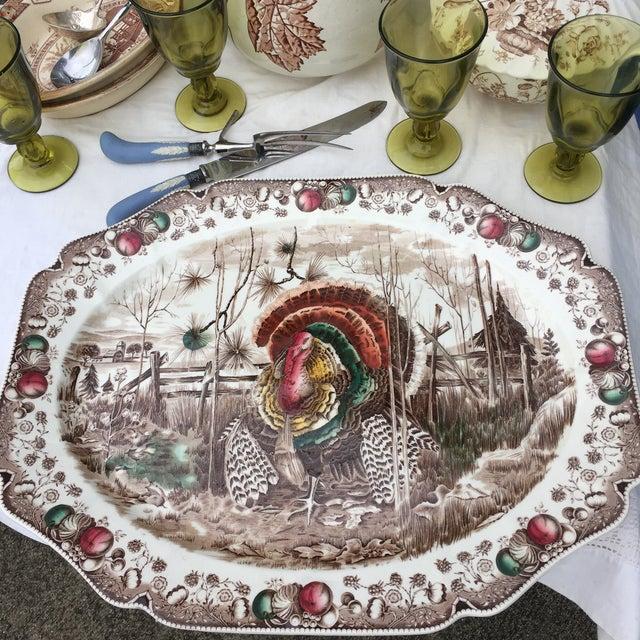 "Beautiful 20.5 x 16 ""His Majesty"" hand engraved English transferware turkey platter by Johnson brothers. It's beautifully..."