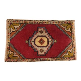 Vintage Decorative Oushak Carpet - 1′9″ × 2′11″