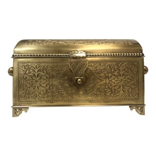 Brass Moroccan Jewelry Box For Sale