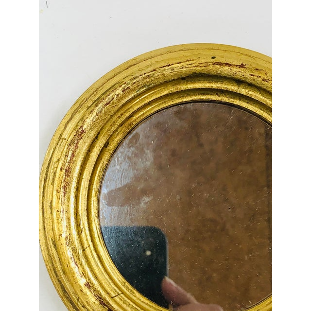 French 1970s Round Florentine Wall Mirror For Sale - Image 3 of 5