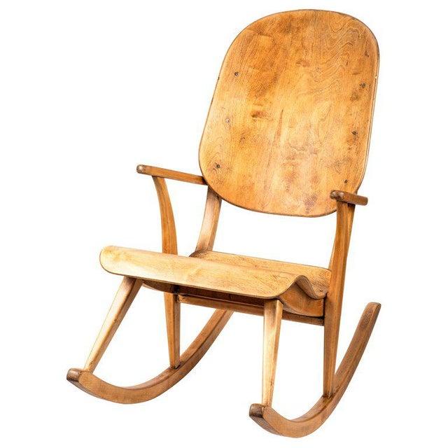 1940s Vintage Ilmari Tapiovaara Rocking Chair For Sale - Image 13 of 13