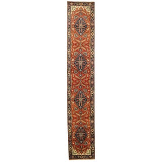 "Pasargad N Y Serapi Design Hand-Knotted Rug - 2'8"" X 15'5"" For Sale"