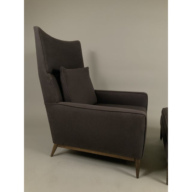 1950s 1950s Paul McCobb for Directional High Back Lounge Chair and Ottoman For Sale - Image 5 of 10