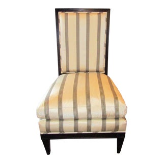 Modern Custom Made Mattaliano in Black and White Upholstery Contemporary Slipper Chair For Sale