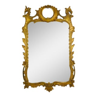 Rococo Style Gilt Palladio Mirror For Sale