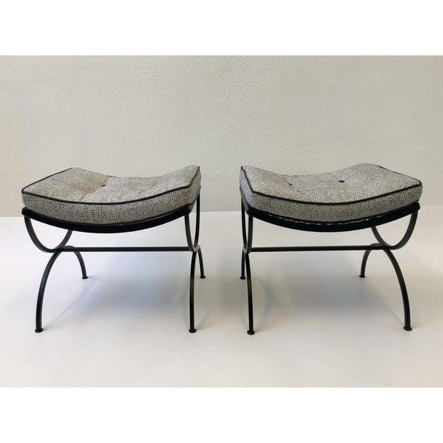 Black Sculptura Ottomans by Woodard - a Pair For Sale - Image 9 of 11