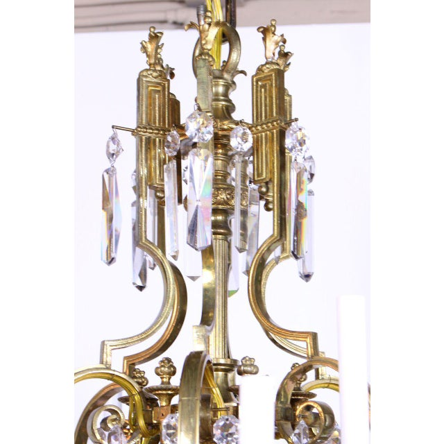 Metal French Gilt Bronze and Crystal 36 Light Chandelier For Sale - Image 7 of 9