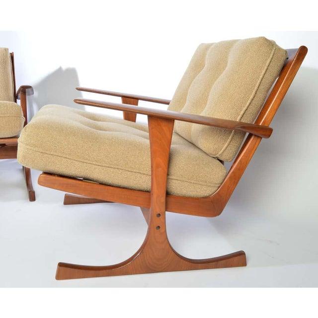 Ib Kofod-Larsen for Selig Denmark Lounge Chairs in Teak For Sale - Image 9 of 11