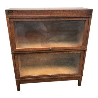 Globe Wernicke Tiger Oak Barrister Bookcase For Sale