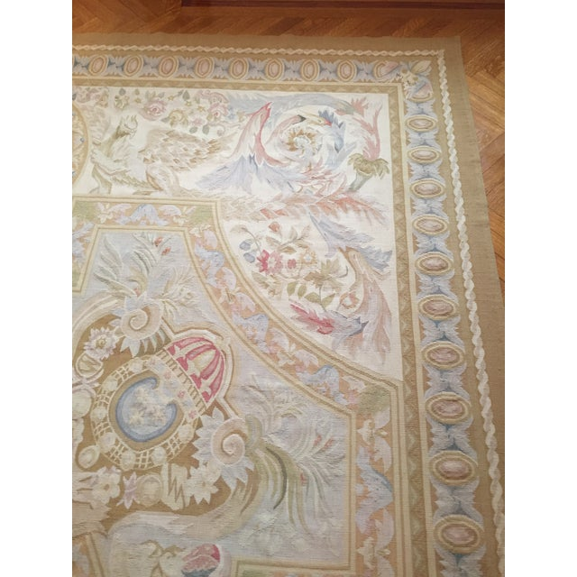 Aubusson French Wool Rug - 9′9″ × 14′2″ - Image 9 of 11
