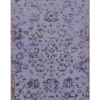 Pasargad NY Hand Knotted Modern Silk Rug - 9' X 12' For Sale