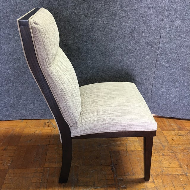 Modern Dining Chairs With Bench - Set of 5 - Image 6 of 11