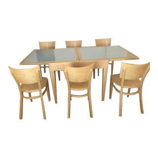 Design Within Reach Spanna Extending Dining Set For Sale