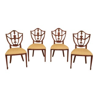 Maitland Smith Carved Mahogany Dining Room Chairs - Set of 4