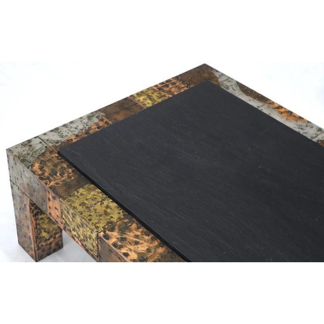 Paul Evans Mid-Century Modern Rectangular Coffee Table With Slate Top For Sale - Image 9 of 12