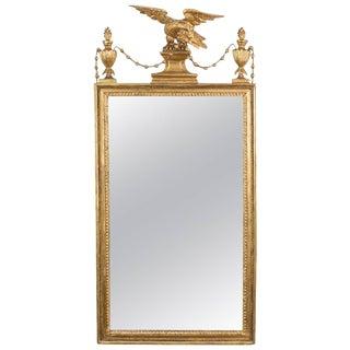 Sheraton Period Pier Mirror Sheraton Period Neoclassical Giltwood Pier Mirror For Sale