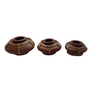 Sri Lankan Stacking Curry Serving Pots - Set of 3 For Sale