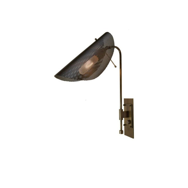 Tulle Wall Lamp in Bronze and Black Enamel Mesh by Blueprint Lighting, 2019 For Sale In New York - Image 6 of 6