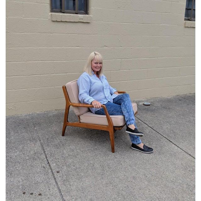 Wood Mid-Century Ib Kofod-Larsen Danish Lounge Chair For Sale - Image 7 of 13