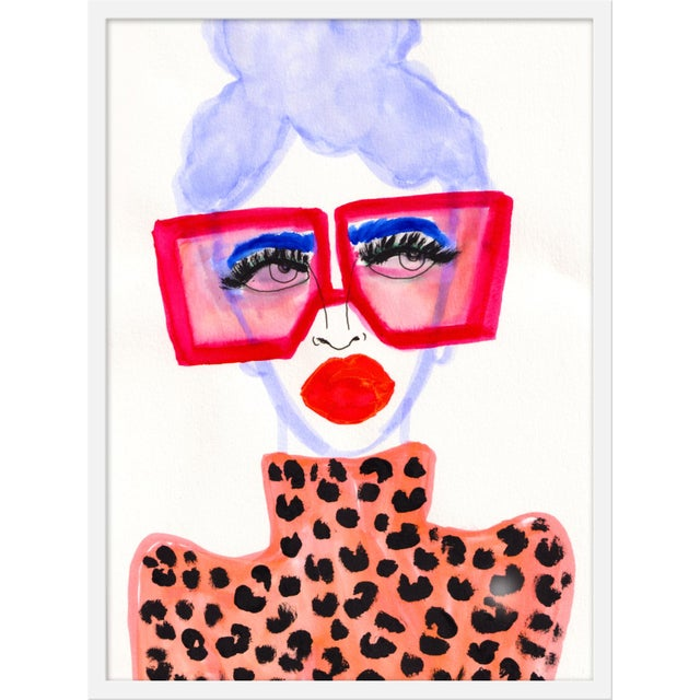 """Medium """"Colorful Girl"""" Print by Kendra Dandy, 24"""" X 32"""" For Sale"""