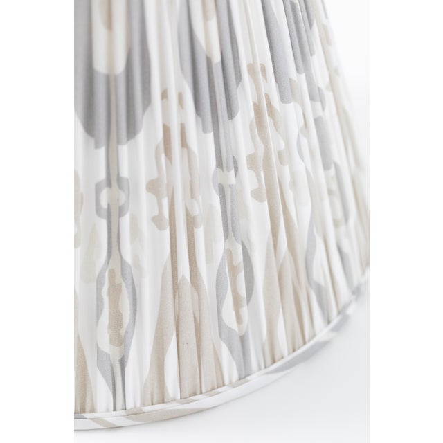 "Not Yet Made - Made To Order Petal Ikat in Linen 10"" Lamp Shade, Sand For Sale - Image 5 of 7"