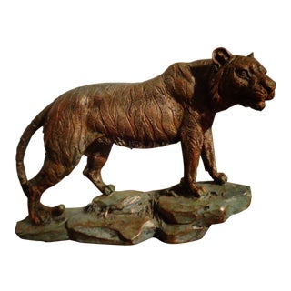 Vintage Standing Tiger Figurine For Sale